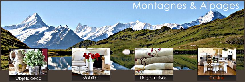 Décoration cuisine de chalet, aménagement cuisine de montagne dans ...